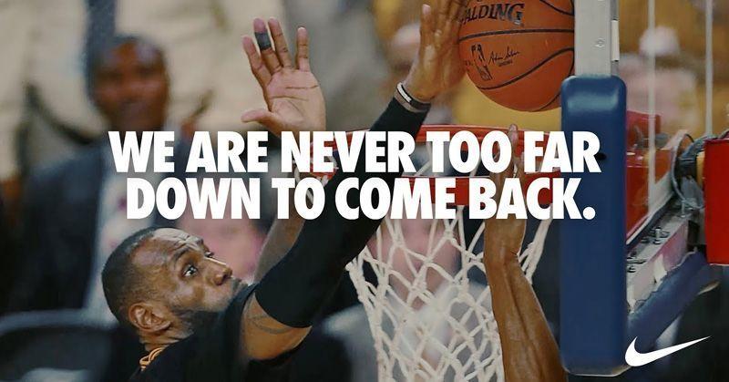 Anuncio de Nike | Never Too Far Down